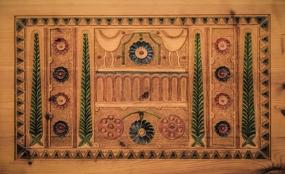 Wood Carving, Traditional, Motif, Decorative, Cyprus