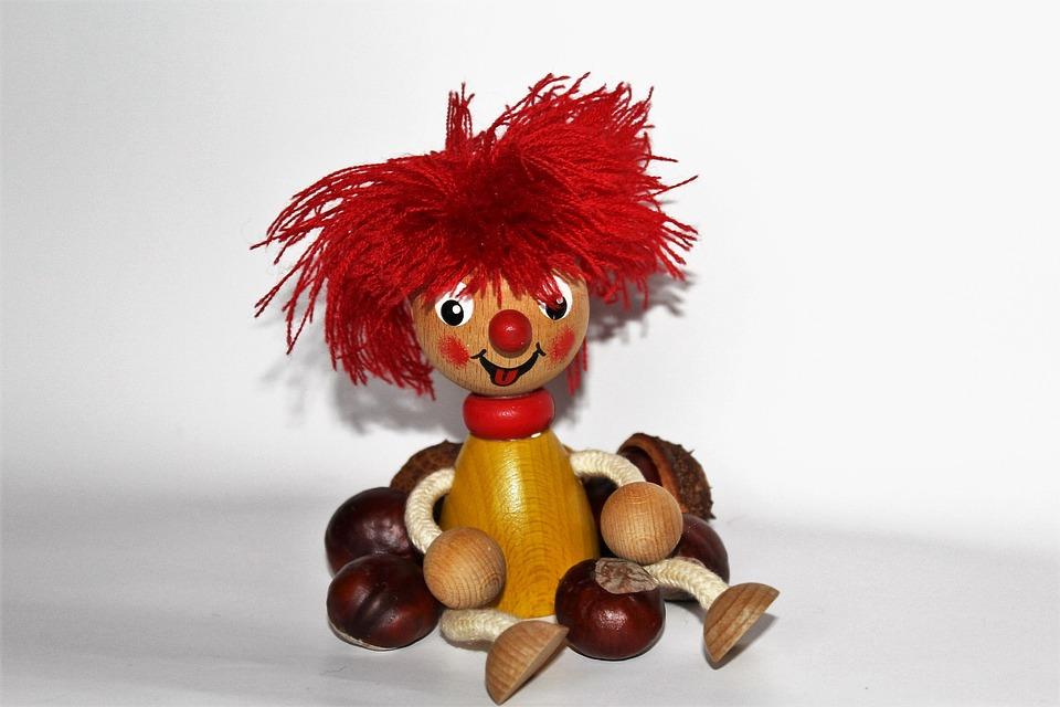 Pumuckl, Chestnut, Toys, Wood, Children