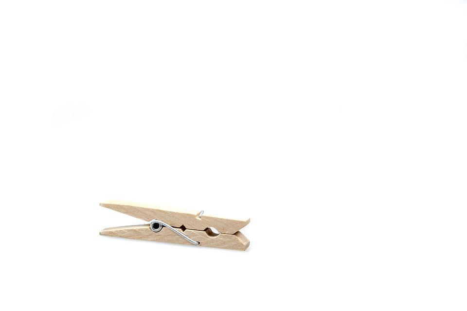 Clothes Peg, Cut Out, Wood, Wood Clamp, Office
