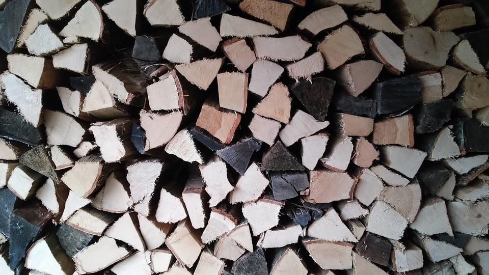Firewood, Stack, Wood, Holzstapel, Combs Thread Cutting