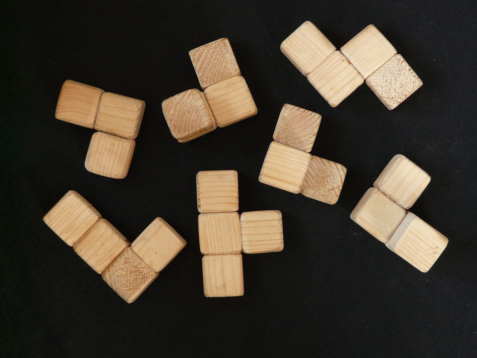 Cube, Wood, Wooden Toys, Puzzle, Share, Build, Play