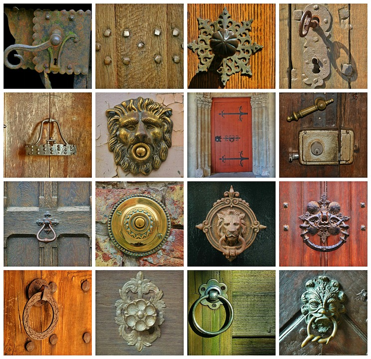Door, Doorknocker, Input, House Entrance, Metal, Wood
