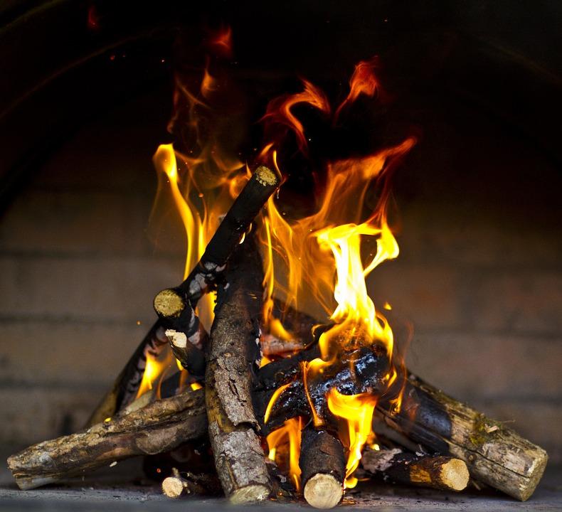 Fire, Wood, Flame, Fireplace, Heat, Burn, Smoke