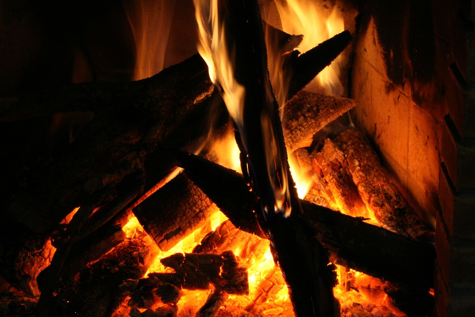 Fire, Hot, Wood, Light