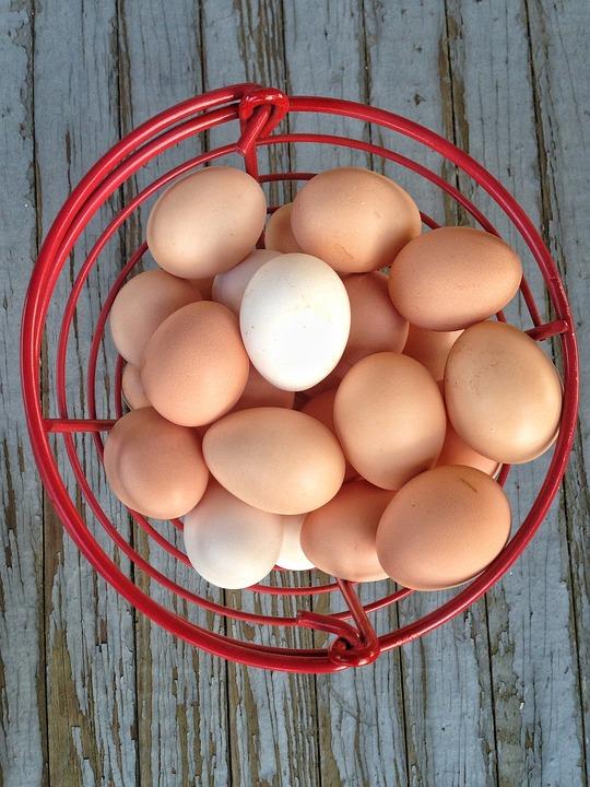 Eggs, Basket, Wood, Easter, Egg, Food, Traditional