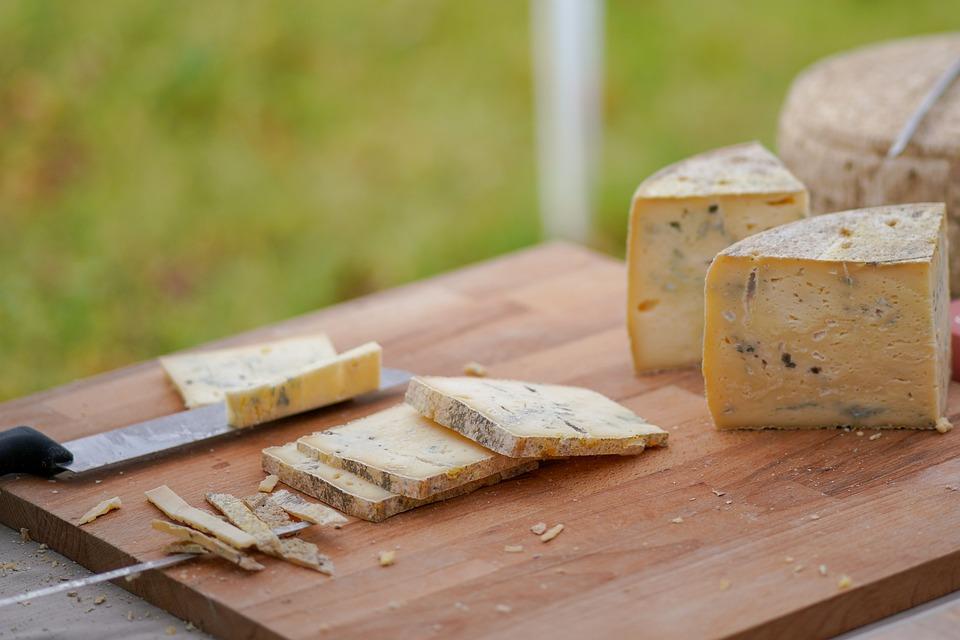 Wood, Knife, Cheese, Food, Hard, Slice, Merchandise