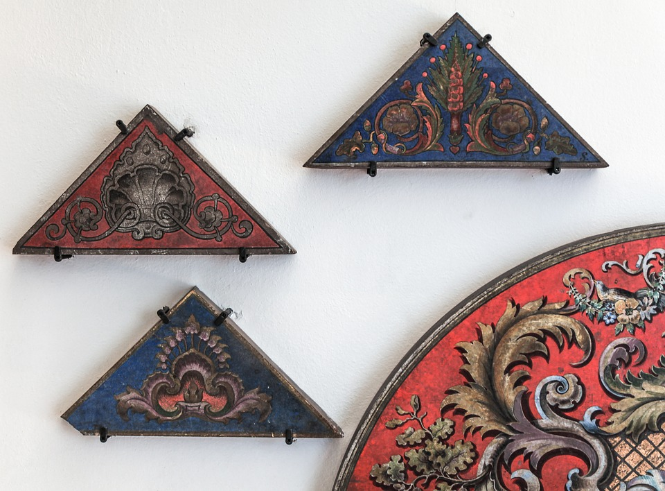 Ornaments, Wood, Painting, Old, Museum, Border, Frame