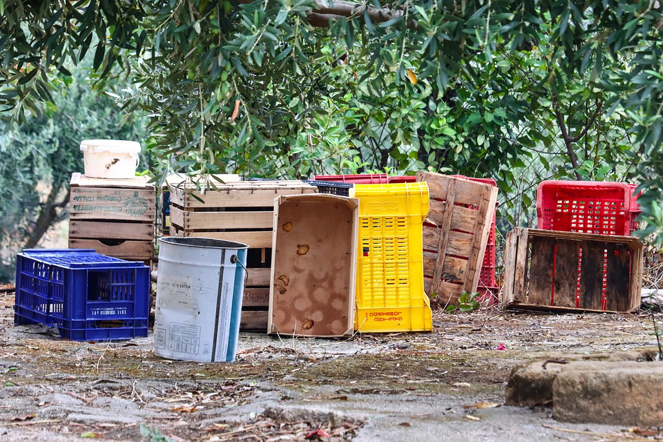 Crates, Container, Wood, Fruit, Countryside, Preserves