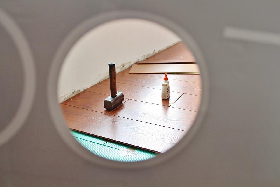 Renovation, Laminate, Room, Hammer, Wood Glue, Boards