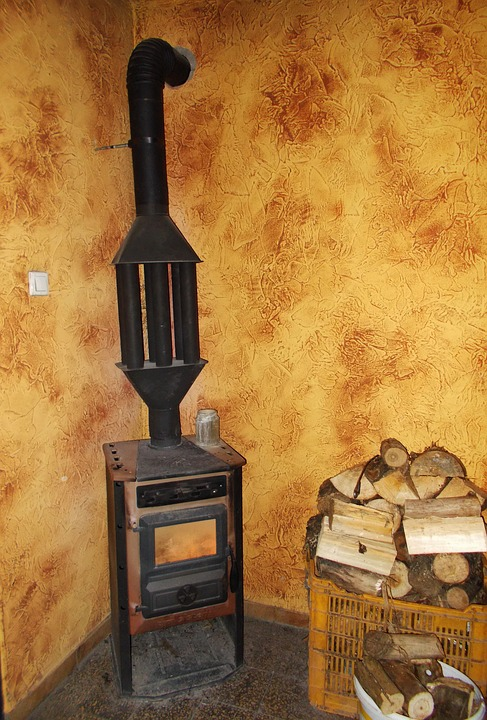 Old Stove, Iron Stove, Wood Heating