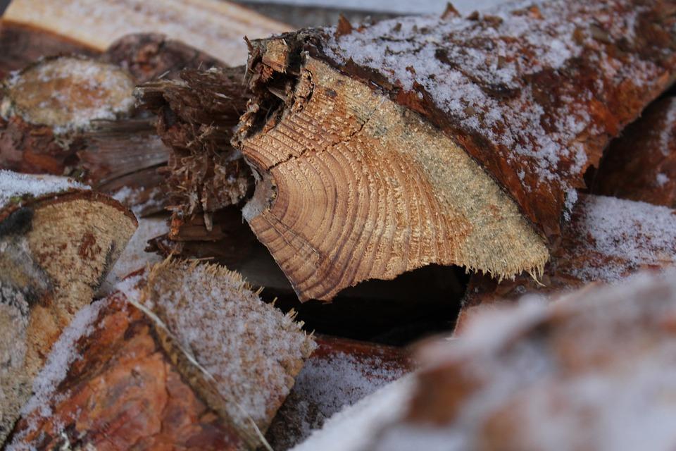 Wood, Firewood, Snow, Holzstapel, Firewood Stack