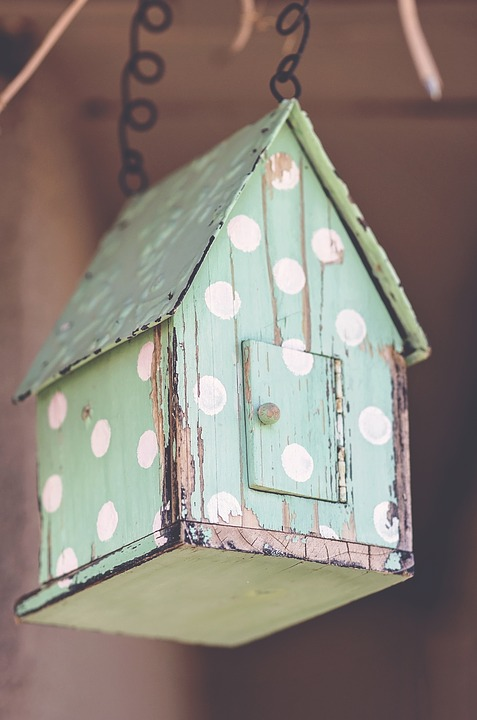 Birdhouse, House, Family, Color, Wood, Decoration