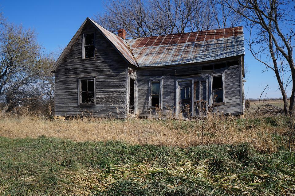 Weathered, House, Wood, Architecture, Rustic, Kansas