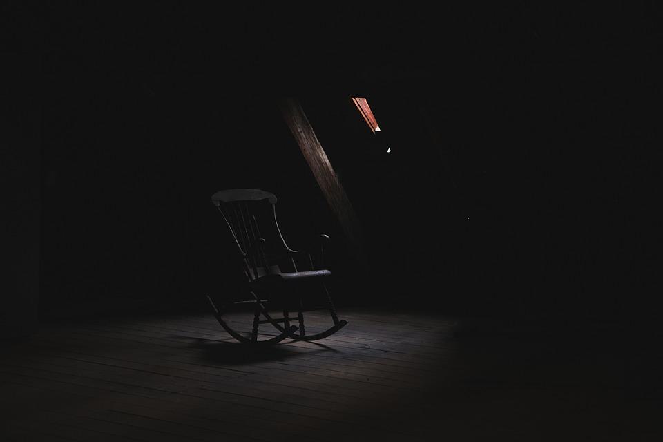 Free Photo Wood Light Rocking House Dark Room Chair Creepy