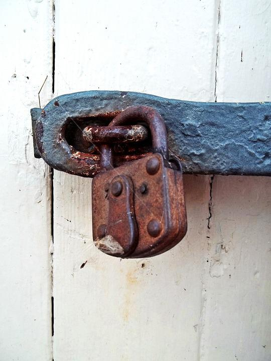 Padlock, Goal, Wood, Door, Input, Old, Old Door, Castle