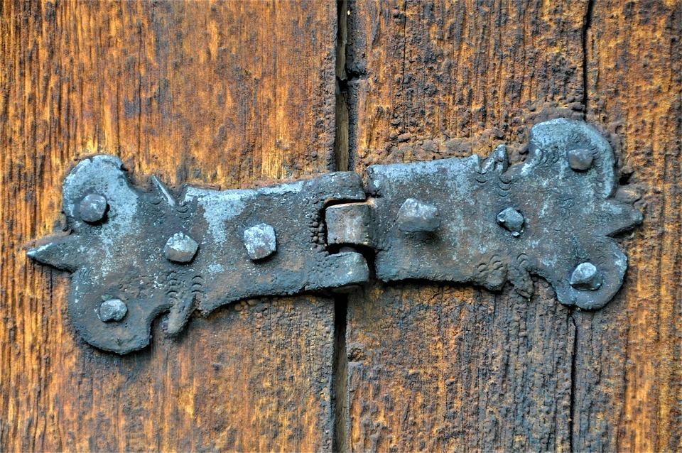 Hinge, Old, Door, Stainless, Wood, Rusted, Old Door