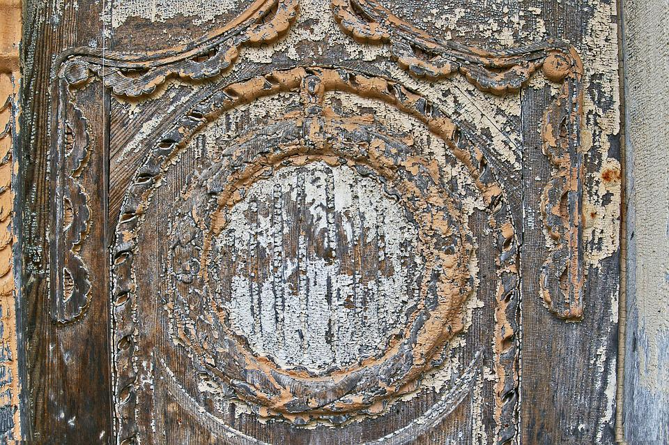Old Door, Door, Input, Weathered, Ornament, Wood, Old
