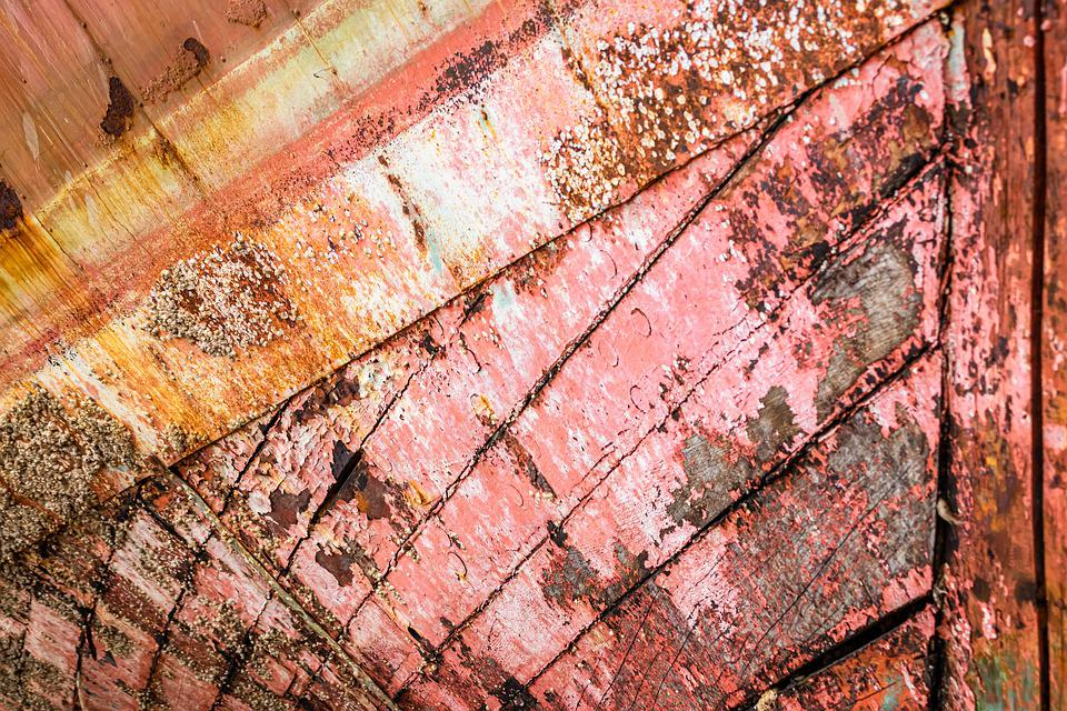 Wood, Ship, Planks, Old, Weathered, Colorful, Leaking