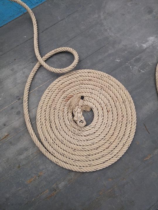 Rope, Halyard, Bridge, Wood, Sailing, Old Rig