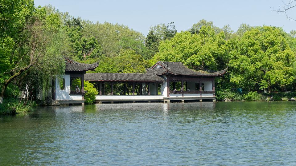 Waters, Nature, Wood, River, Lake, Pavilions