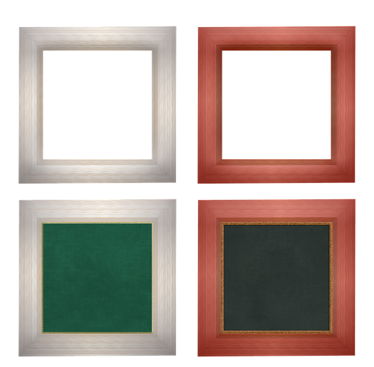 Frame, Square, Decorative, Wood, Wood Picture Frame