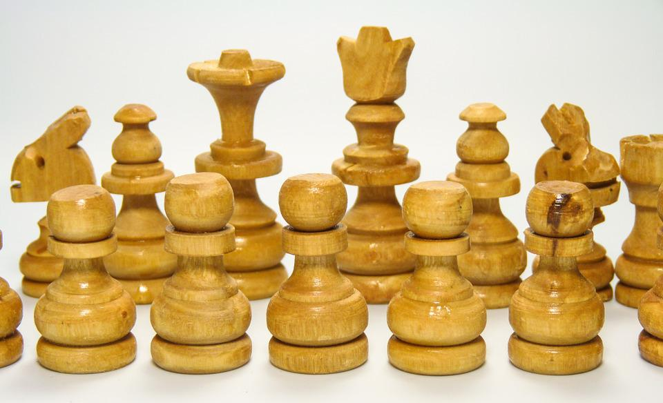 Chess, White, Pieces, Figures, Game, Wood, Olive, Pawn