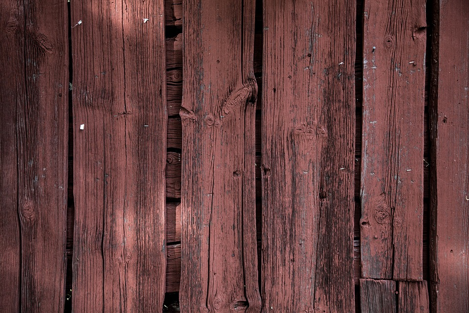 Red Wood Paint, Plank, Closeup, Texture, Wood