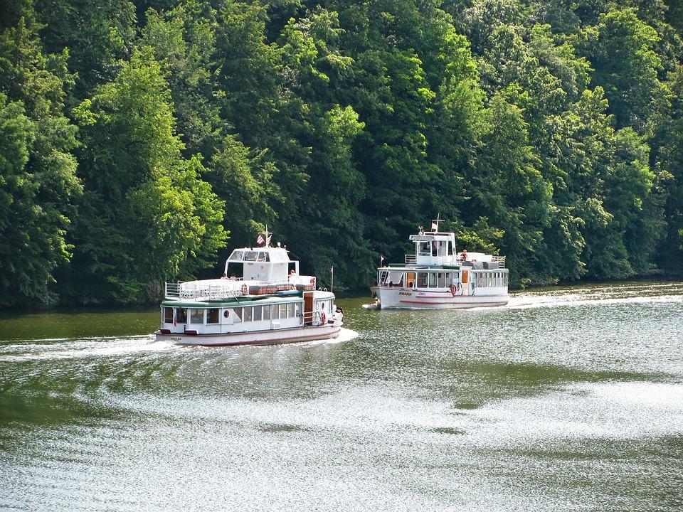 Lake, Brno, Prigl, Reservoir, Water, Wood, Forest, Ship