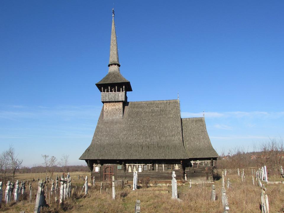 Church, Wood, Rieni, Old, Cemetery, Romania