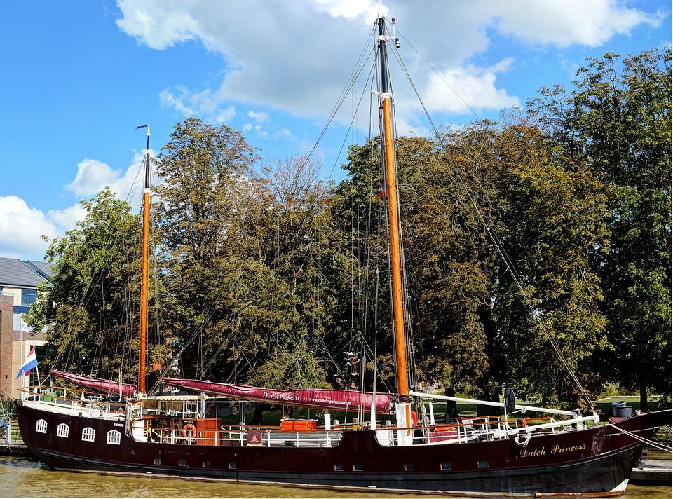 Ship, Antique, Wood, Zweimaster, Sailing Vessel, Master