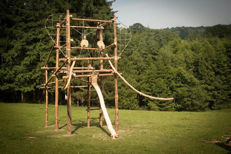 Building, Wood, Scout, Elephant, Camp, Nature, Prairie