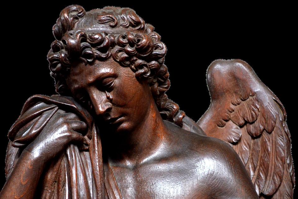 Angel, Wood, Figure, Art, Wood Carving, Sculpture