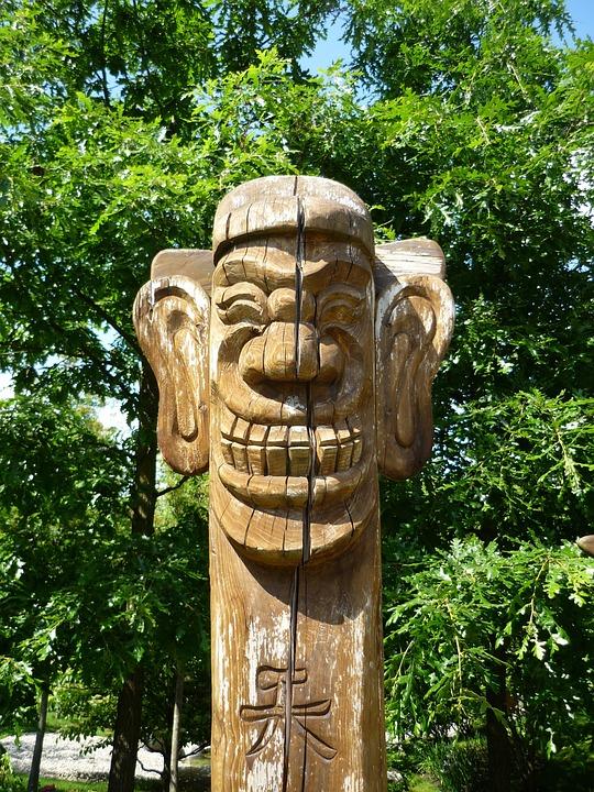 Sculpture, Wood, Get, Holzfigur, Art, Statue, Carving
