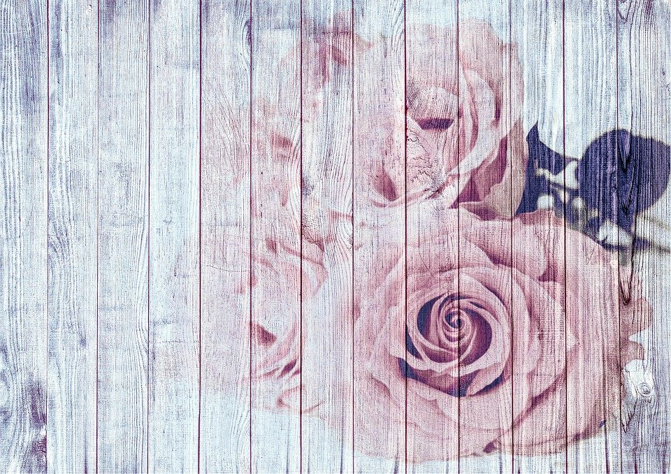 Vintage Shabby Chic Background Decoration Wood