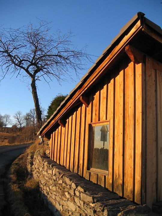 Siding, Wood, House, Cabin, Facade