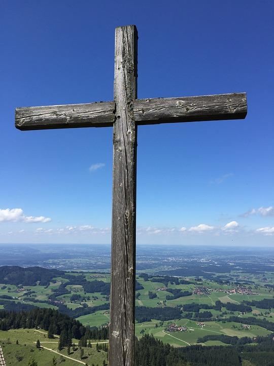 Cross, Wood, Wayside Cross, Weathered, Symbol