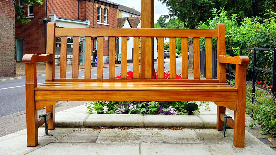 Bench, Street, Village, Outdoors, Wooden, Old, Uk, Wood