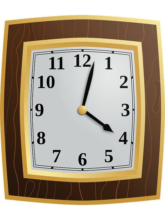 Clock, Wood, Time, Hour, Minute, Wall Clock