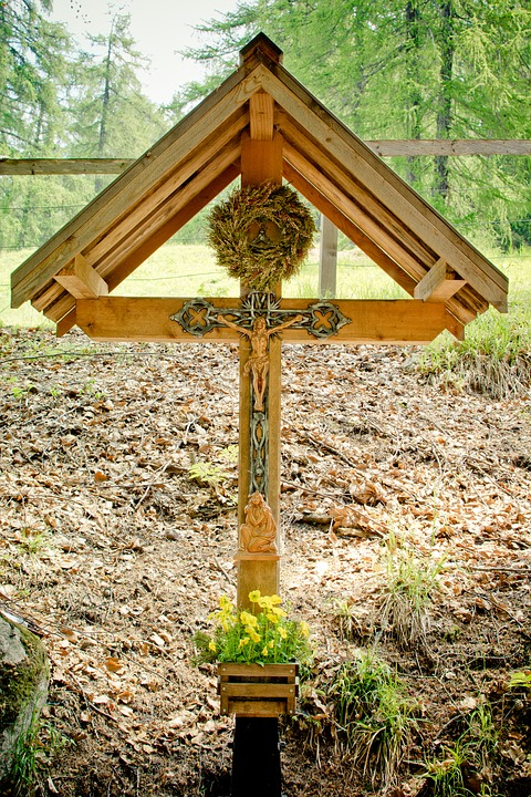 Corridor Cross, Crucifix, Wayside Cross, Wood, Jesus