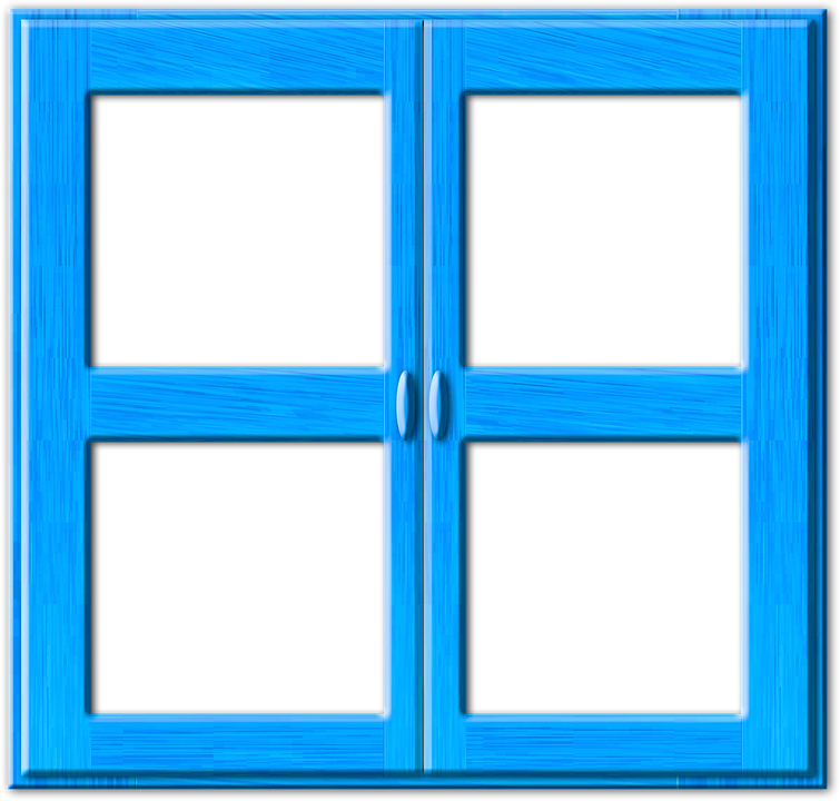 Window, Blue, Closed, Frame, Wood, Window Frames