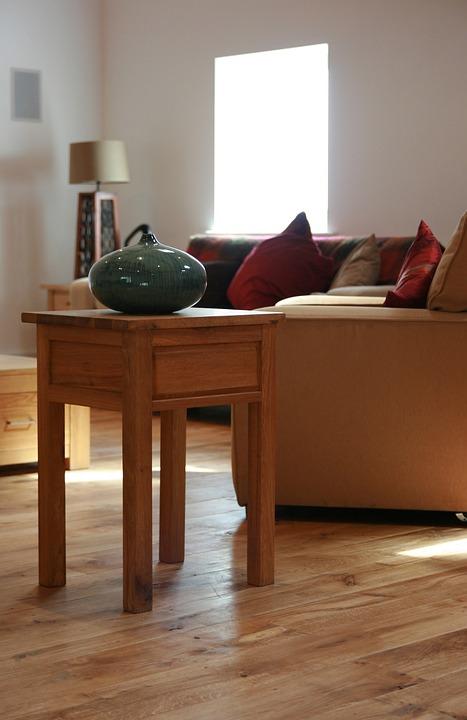 Wood Table, Oak Floor, Floor, Wood, Table, Oak