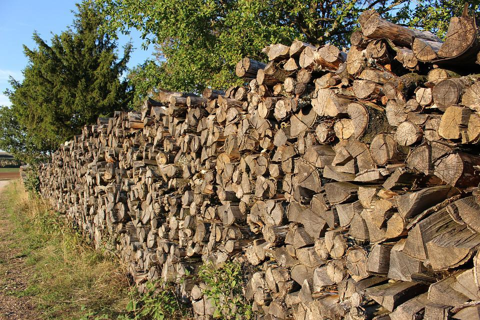 Wood, Woodpile, Heating