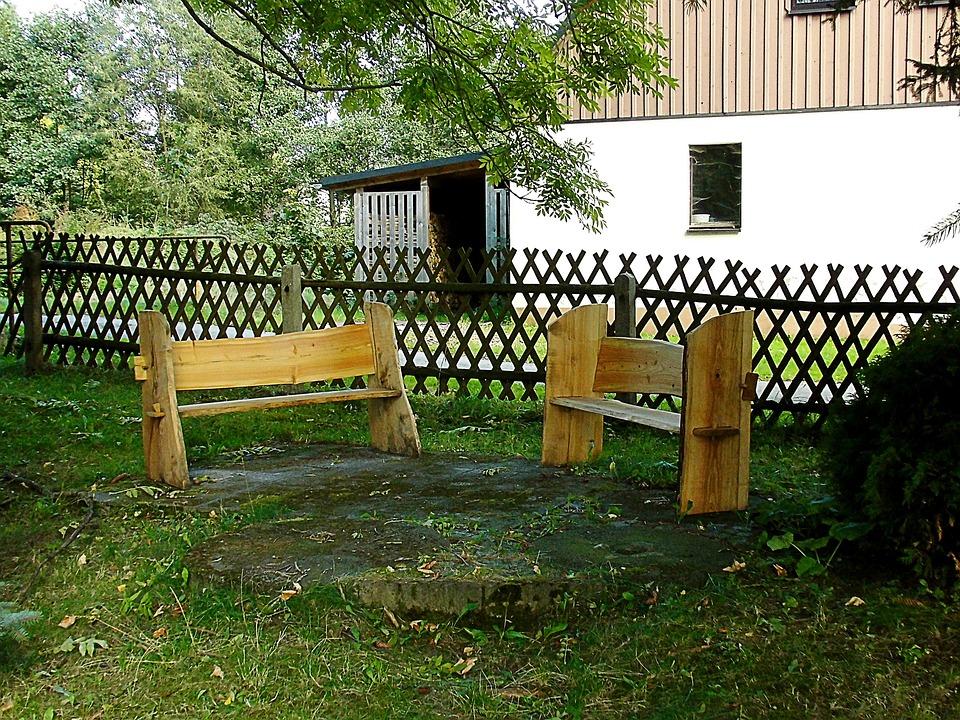Bank, Park, Wooden Bench, Wood, Bench, Seat, Rest, Set