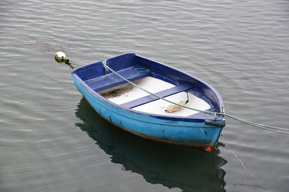 Boat, Water, Lake, Blue, Wooden Boat, Fishermen, Browse