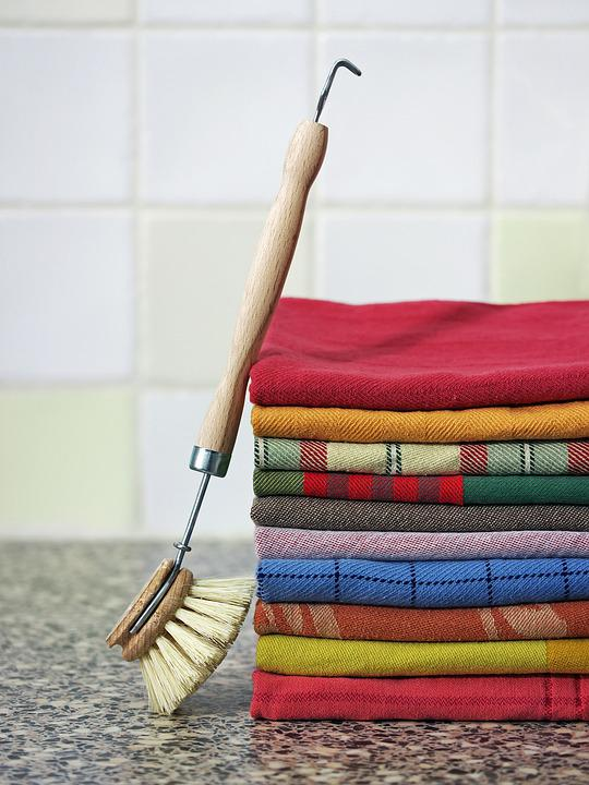 Wooden Brush, Colorful Towels, Fashion Cleaning