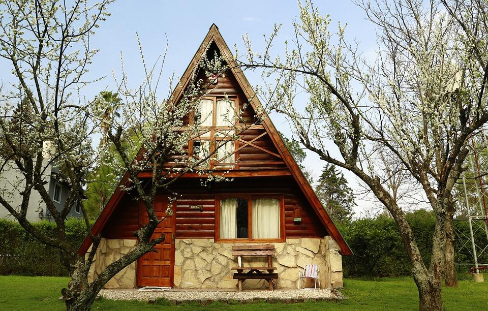 Cabin, Alpine, Wooden Cabins, Landscape, Wood, Trees