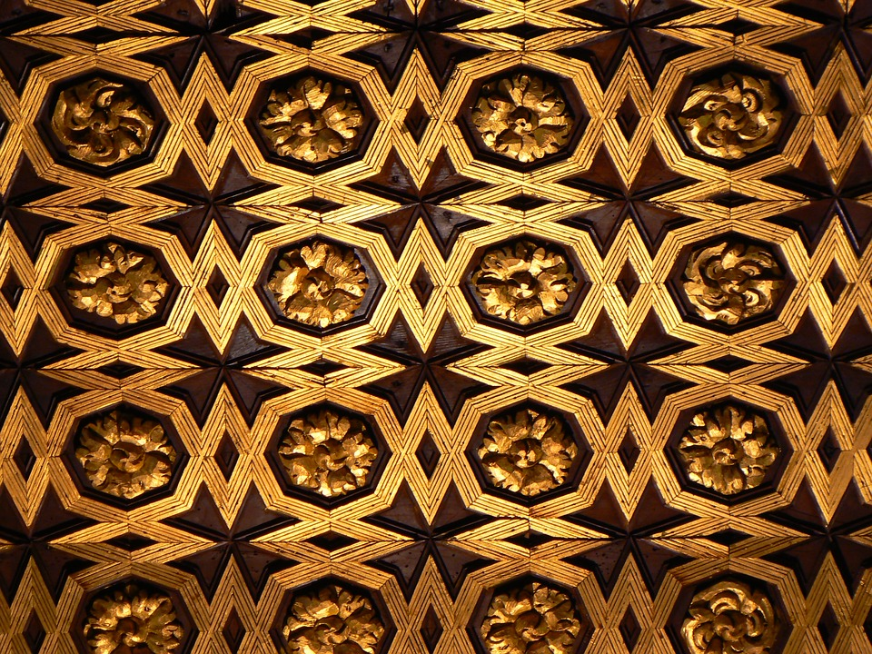 Pattern, Blanket, Architecture, Wooden Ceiling
