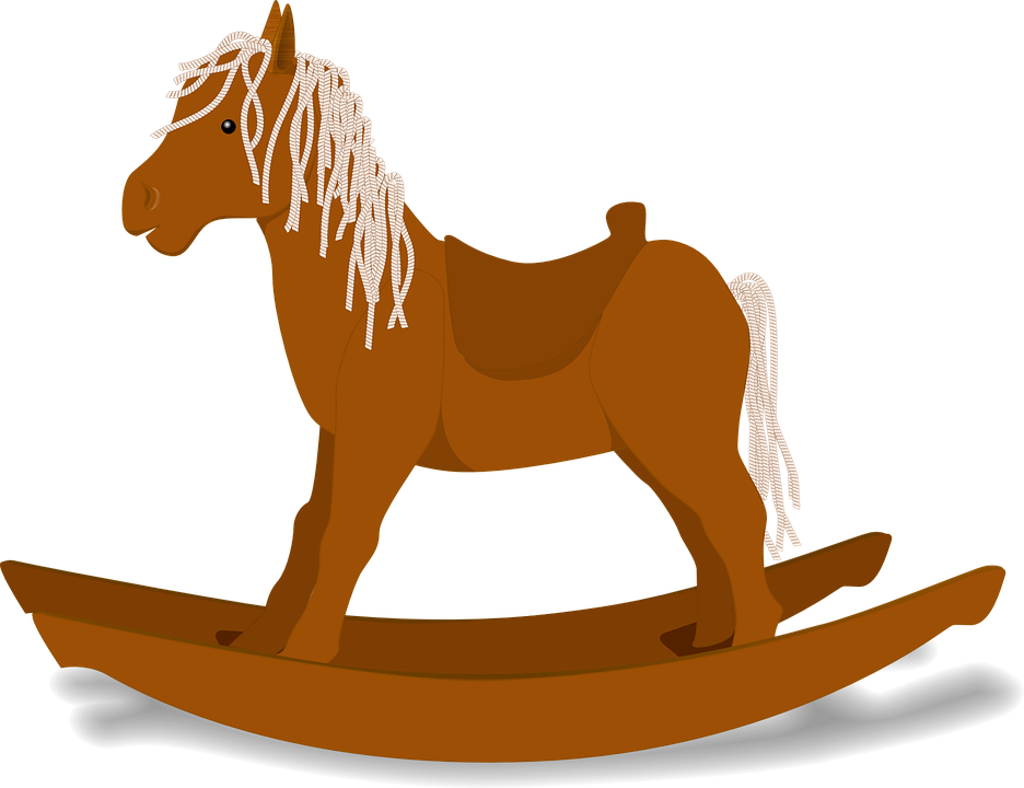 Rocking Horse, Rocker, Children, Wooden, Play, Fun
