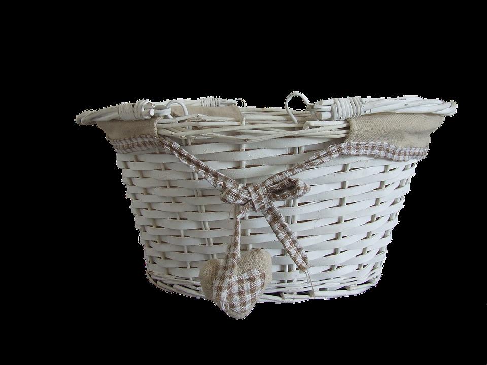 White, Wicker, Basket, Natural, Decoration, Wooden