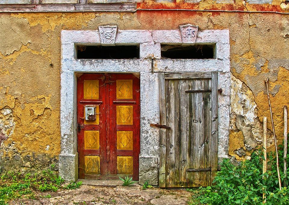 Door, Input, Farmhouse, Historically, Old, Wooden Door